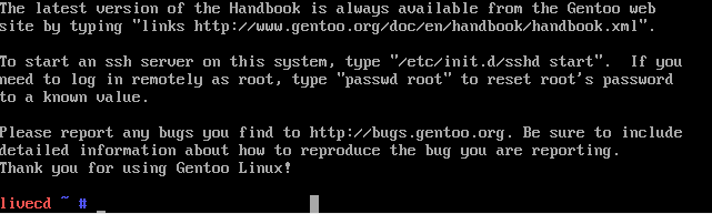 gentoo install